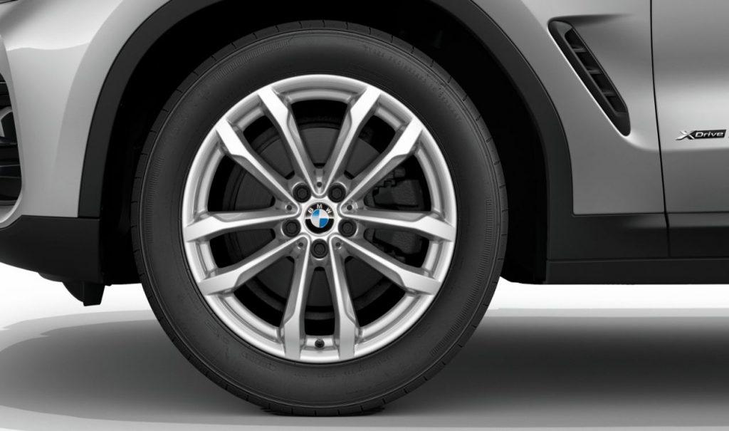 "19"" BMW Leichtmetallrad V-Speiche 691 Reflexsilber, Winter-Komplettrad"