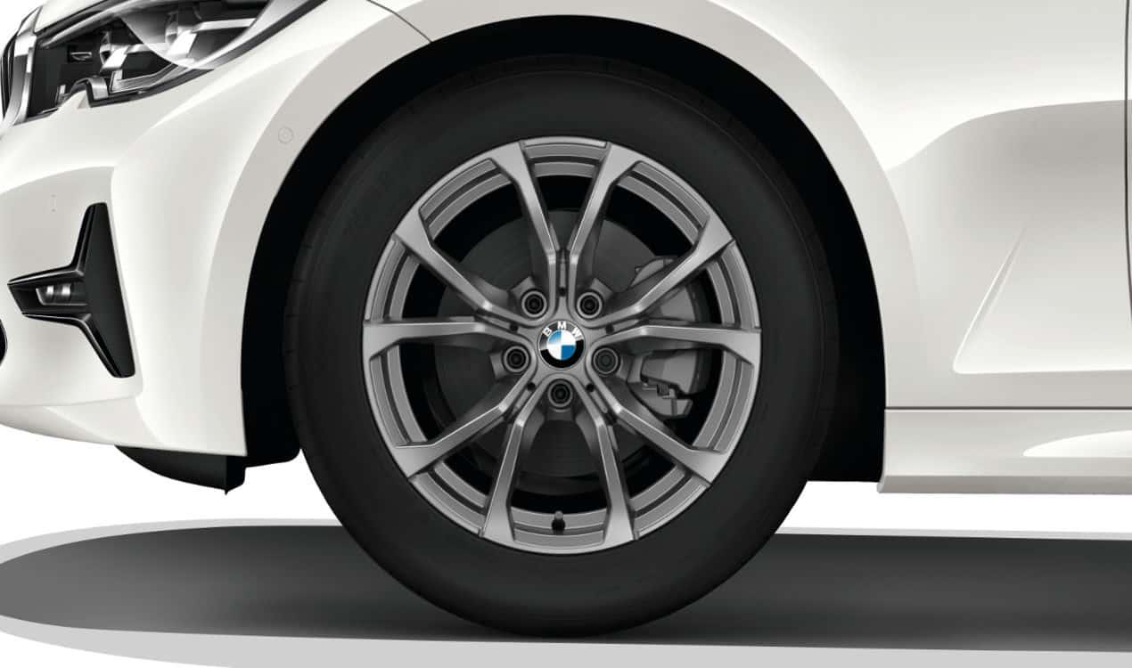 BMW Leichtmetallrad V Speiche 776 Ferricgrau Winter Komplettrad