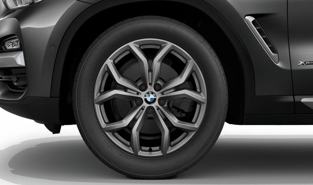 """19"""" BMW Leichtmetallrad Y-Speiche 694 Ferricgrau, Winter-Komplettrad"""
