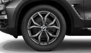 BMW Leichtmetallrad Y Speiche 694 Ferricgrau Winter Komplettrad